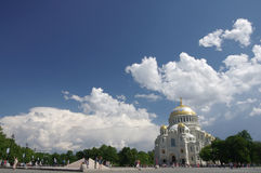 Naval cathedral in Kronshtadt Stock Photo
