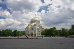 Naval cathedral in Kronshtadt Stock Image