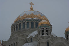 Naval Cathedral in Kronstadt Royalty Free Stock Photo