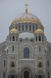 Naval Cathedral in Kronstadt Stock Photo