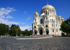 Naval cathedral in Kronstadt. Stock Photography