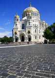 Naval cathedral in Kronstadt. Royalty Free Stock Photography