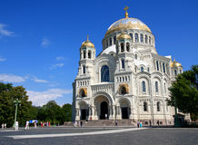 Naval cathedral in Kronstadt. Stock Photo