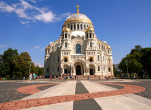 Naval cathedral in Kronstadt. Stock Image