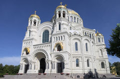 Naval Cathedral in Kronstadt, Russia Stock Photo