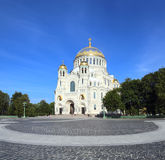 Naval Cathedral in Kronstadt Saint-petersburg Royalty Free Stock Photo