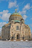 Naval Cathedral in Kronstadt Stock Image
