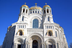 Naval Cathedral Of Saint Nicholas In Kronstadt, Russia Stock Photos