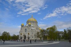The Naval Cathedral of Saint Nicholas in Kronstadt Royalty Free Stock Photography