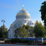 Naval cathedral of Saint Nicholas in Kronstadt Royalty Free Stock Image