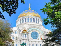 Naval cathedral of Saint Nicholas in Kronstadt. The Naval cathedral of Saint Nicholas in Kronstadt at the island Kotlin near the Saint Petersburg, Russia Royalty Free Stock Photos