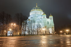 Naval Cathedral of Saint Nicholas in Kronstadt Stock Images