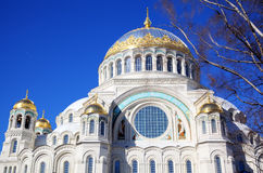 Naval Cathedral of Saint Nicholas in Kronstadt, Russia Royalty Free Stock Photography