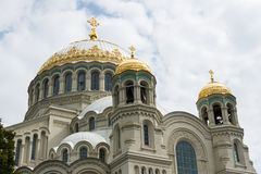 The Naval cathedral of Saint Nicholas in Kronstadt Stock Image