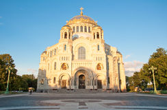 The Naval cathedral of Saint Nicholas in Kronstadt, Russia. Royalty Free Stock Images