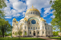 The Naval cathedral of Saint Nicholas in Kronstadt on the south side Stock Photo