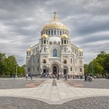 The Naval cathedral of Saint Nicholas in Kronstadt Stock Photography