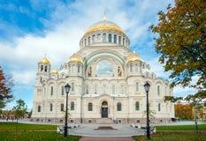 Naval cathedral of Saint Nicholas, St Petersburg, Russia. Naval cathedral of Saint Nicholas in Kronstadt, St Petersberg, Russia Stock Image