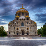 Naval Cathedral of St. Nicholas, Kronstadt Stock Photos