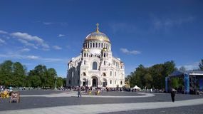 The naval cathedral. Naval cathedral of St. Nicholas in Kronstadt Stock Images