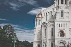 Naval Cathedral of St. Nicholas in Kronstadt, Saint Petersburg, Russia. Naval Cathedral of St. Nicholas Nikolsky Marine Cathedral in Kronstadt, Saint Petersburg Royalty Free Stock Photography