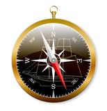Naval compass Royalty Free Stock Image