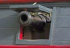 Naval Deck Gun stock photography