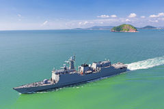 Naval destroyer Royalty Free Stock Photos