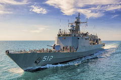 Naval destroyer Stock Photography