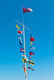 Naval flags Royalty Free Stock Photo