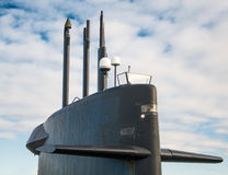 Naval fleet. Top of nuclear submarine. Naval fleet stock photo