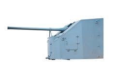Naval Gun. World War II Royalty Free Stock Images