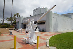 Naval guns. At the Maritime Museum in Los Angeles Royalty Free Stock Image