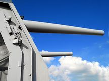Naval Guns Royalty Free Stock Photo