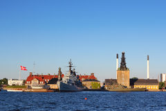 Naval harbor in Copenhagen Royalty Free Stock Images