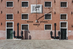 Naval History Museum, front of the building, Venice, Italy Royalty Free Stock Images