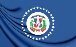 Naval Jack of the Dominican Republic. Stock Photography