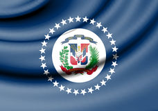 Naval Jack of the Dominican Republic. Royalty Free Stock Image