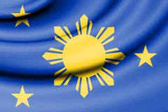 Naval Jack of Philippines. Stock Images
