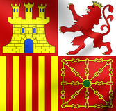 Naval Jack of Spain Royalty Free Stock Images