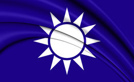 Naval Jack of Taiwan Stock Images