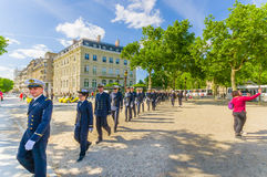 Naval Military Academy in dress uniform close to Royalty Free Stock Photos