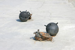 Naval mines Royalty Free Stock Photography