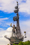 Naval monument to Peter the Great Stock Photos