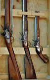 Naval Muskets On Display Royalty Free Stock Photos