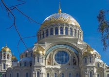Naval Nikolsky Cathedral. In Kronshadte Royalty Free Stock Images