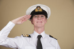 Naval officer saluting Royalty Free Stock Image