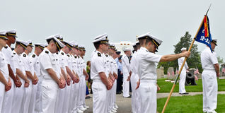 Naval Officers Recruits in formation Royalty Free Stock Image