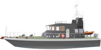 Naval Patrol Boat vector illustration