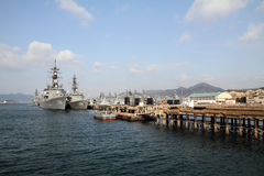 Naval port in Kure Royalty Free Stock Photos